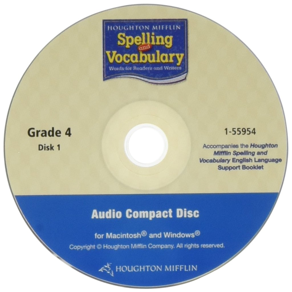 Houghton Mifflin Spelling and Vocabulary: English Language Support Booklet and Audio CD Grade 4 by HOUGHTON MIFFLIN