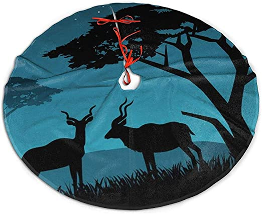 Egoa Falda del Árbol De Navidad Falda De Árbol Kudu De Pareja Una ...