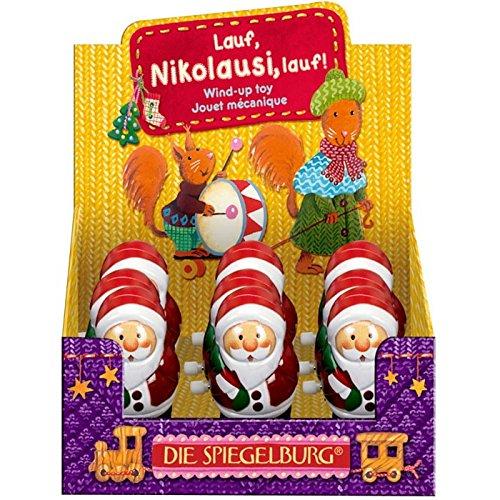 Die Spiegelburg 11517 - giocattolo, regalo, divertente - Babbo natale a carica/molla che cammina - giocattolo per bambini