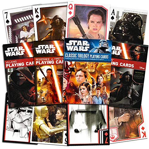 Star Wars Ultimate Playing Cards Set -- 4 Decks Featuring The Classic Trilogy, The Resistance, First Order and More (Star Wars Games) Deck Playing Card Set