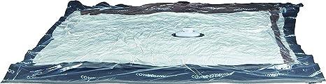 Compactor Transparent Lote de 6 Bolsas de Compresión Al Vacío, Aspispace, Talla L, Extra Plano, RAN8716, Compression Bag : 0.065 Mm Lldpe + Nylon, L