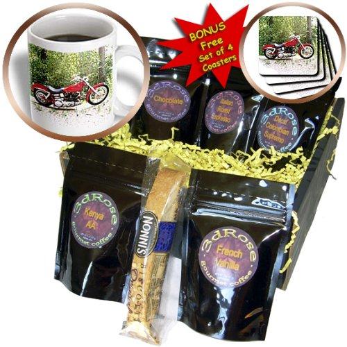 Coffee Gift Basket Picturing Harley-Davidson® Motorcycle - Coffee Gift Basket (cgb_4839_1) (Harley Davidson Gift Basket)