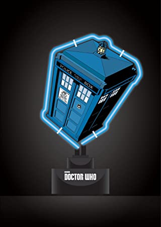 Doctor who tardis small neon table light uk plug amazon doctor who tardis small neon table light uk plug mozeypictures Gallery