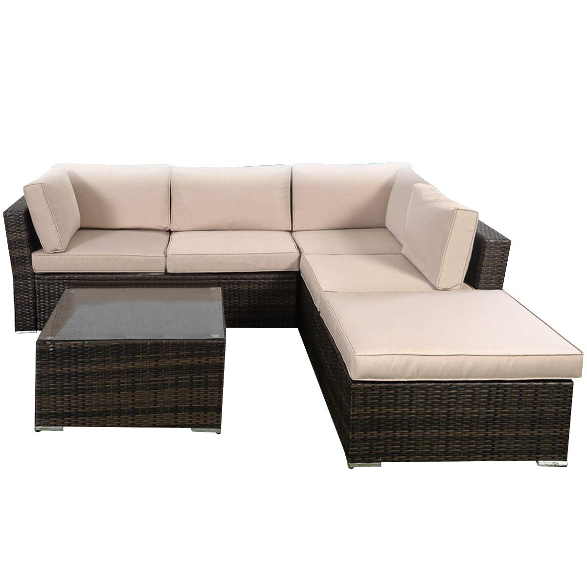 Groovy Hampton Bay Beacon Park Wicker Outdoor Loveseat With Toffee Forskolin Free Trial Chair Design Images Forskolin Free Trialorg