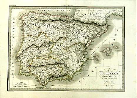 Amazon Com Large Folio Size Map Ancient Spain Lapie 1831