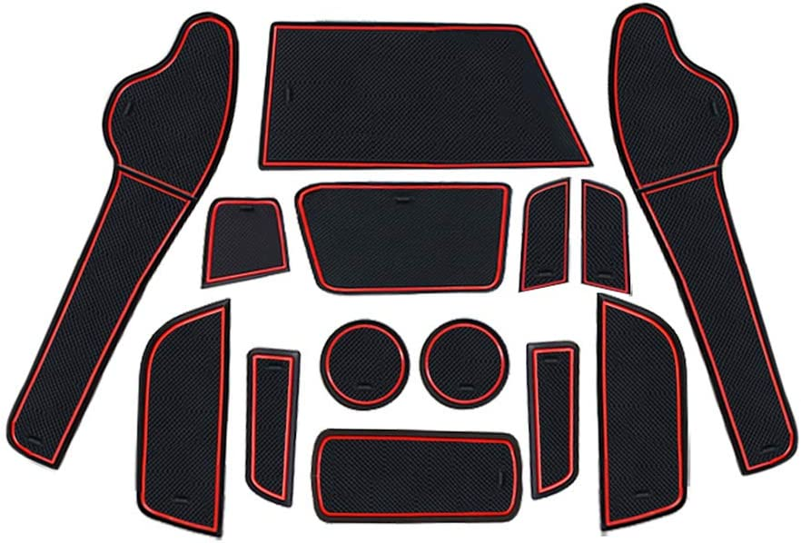LFOTPP Tappetini Gomma per Crossland X Tappetino Antiscivolo per Portabicchieri Braccioli Scanalatura Porta Interni Auto