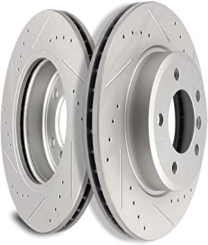 Front Drilled /& Slotted Brake Rotors And Ceramic Pads For BMW 323i 325Ci Z3 Z4