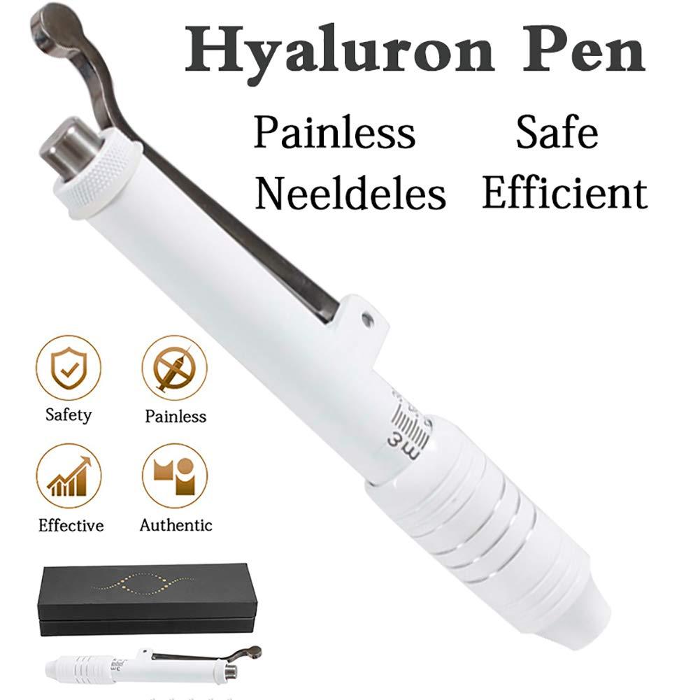XHH Hyaluronic Injection Pen + 5Pcs Syringe Needle Massage Atomizer Pen Kit High Pressure Acid Guns Anti Wrinkle Water Syringe Needl