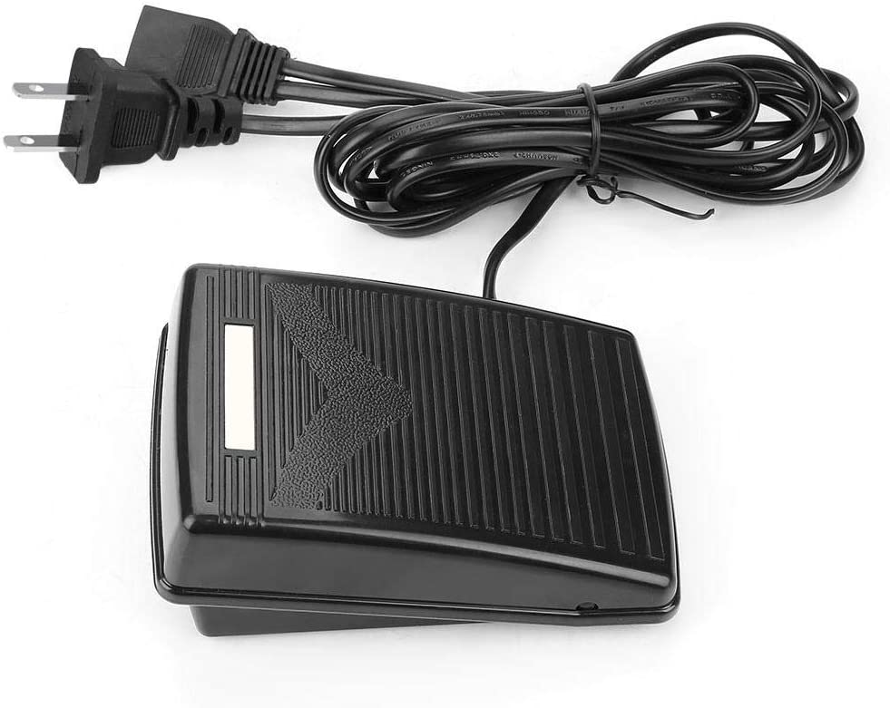 US Plug US 110V FTVOGUE Foot Controller Home Sewing Machine Replacement Foot Control Pedal With Power Cord