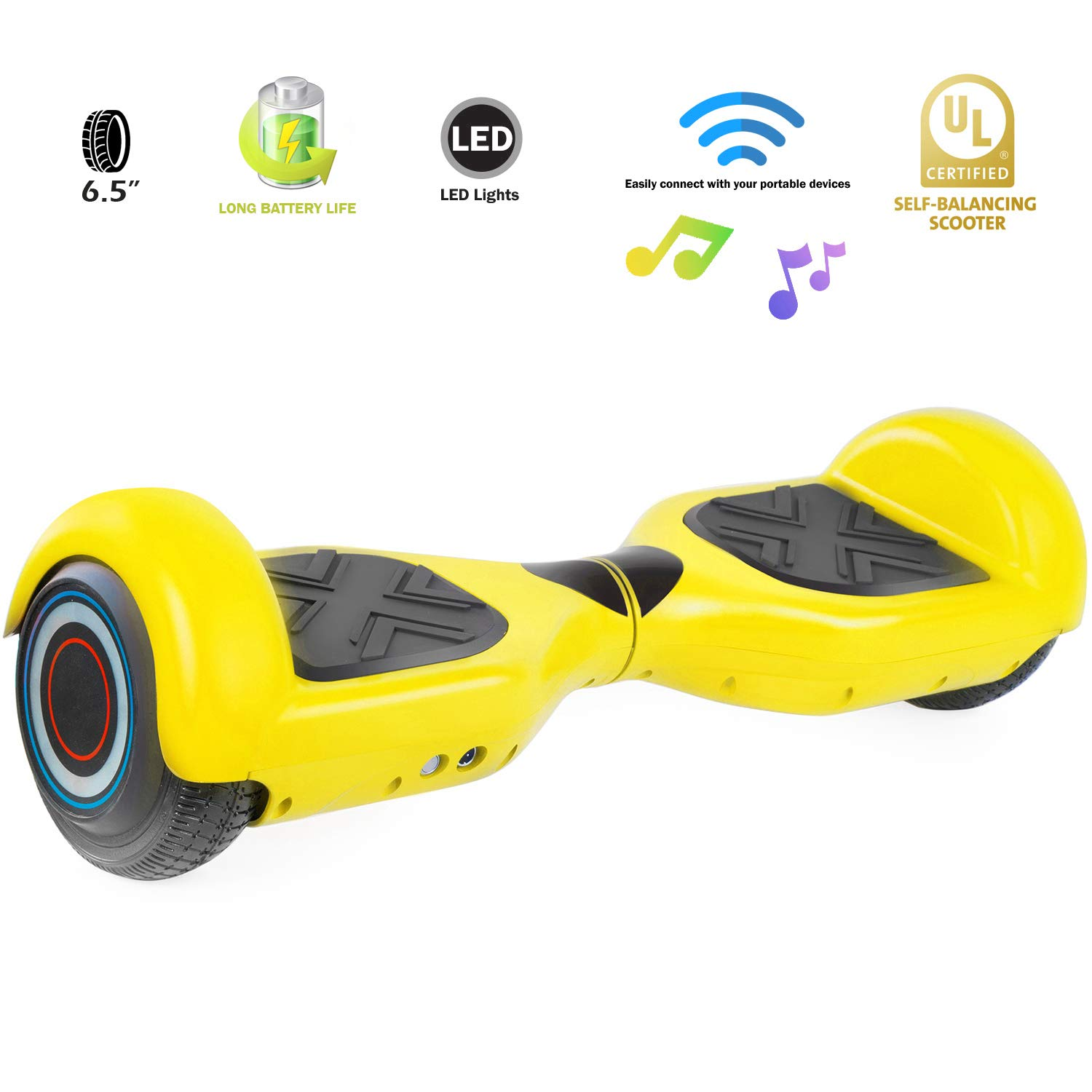 XPRIT Easter Sale Hoverboard w/Bluetooth Speaker (Yellow) by XPRIT (Image #5)