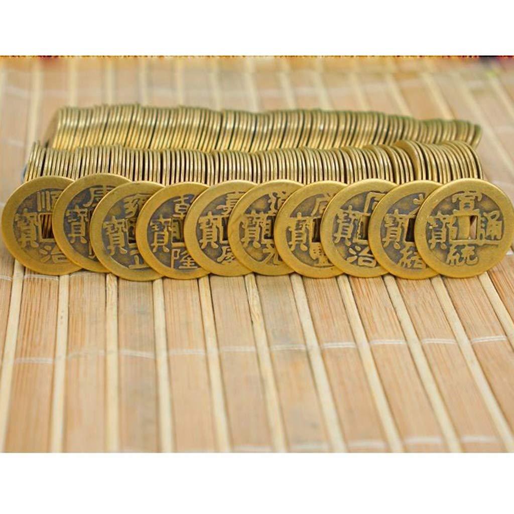 ZGZHIZ Cobre cl/ásica China Monedas Cinco Emperadores y Seis emperadores Antiguos Monedas Antiguas dinast/ía Qing Cobre Puro aut/énticas Monedas de la Suerte Town House Qianlong Yongzheng Color : A