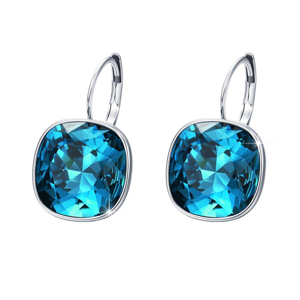 Purposeful Round White Diamond Women 14k White Gold Finish Charm Stud Earrings Push Back Fine Jewelry Fine Earrings