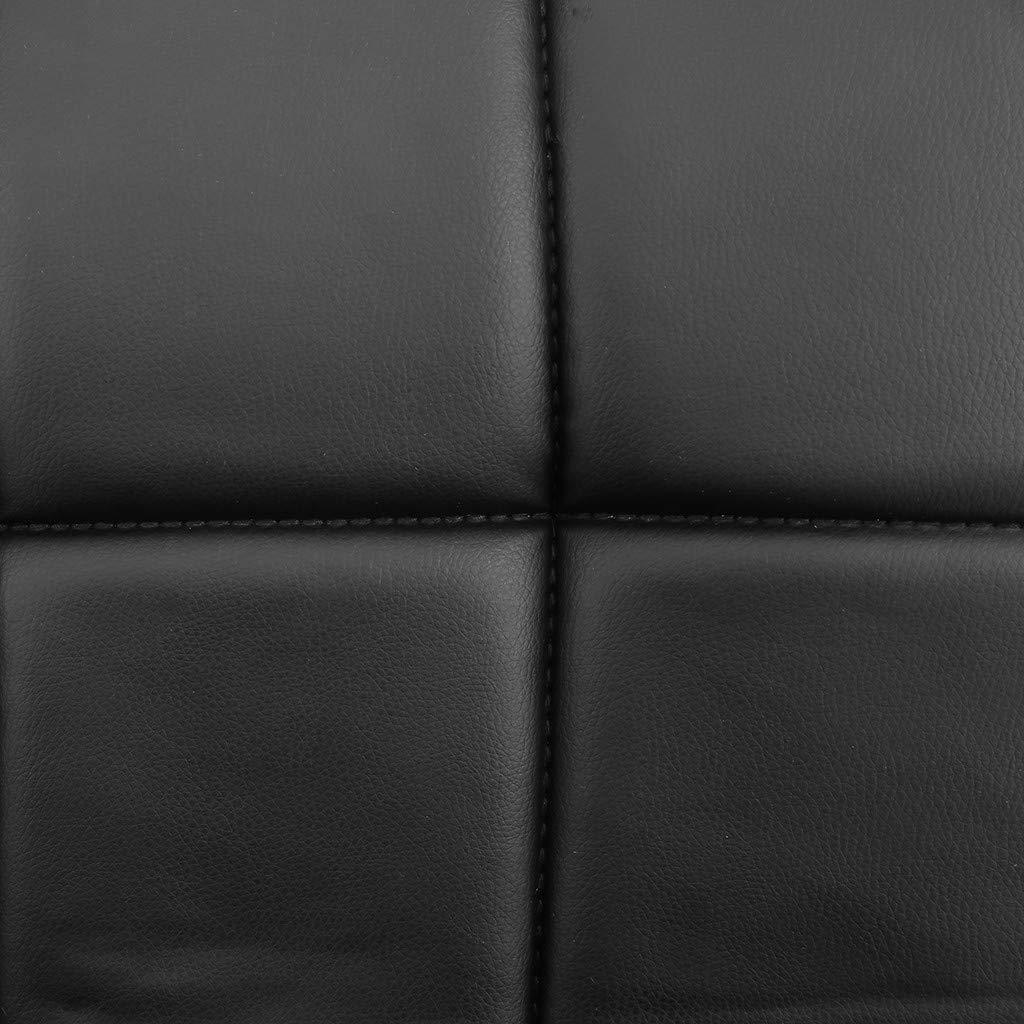 TADAMI Adjustable Bar Stools, Set of 2 Leather Bar Stools Counter Height Swivel Bar Stools Chair (Black) by TADAMI (Image #8)