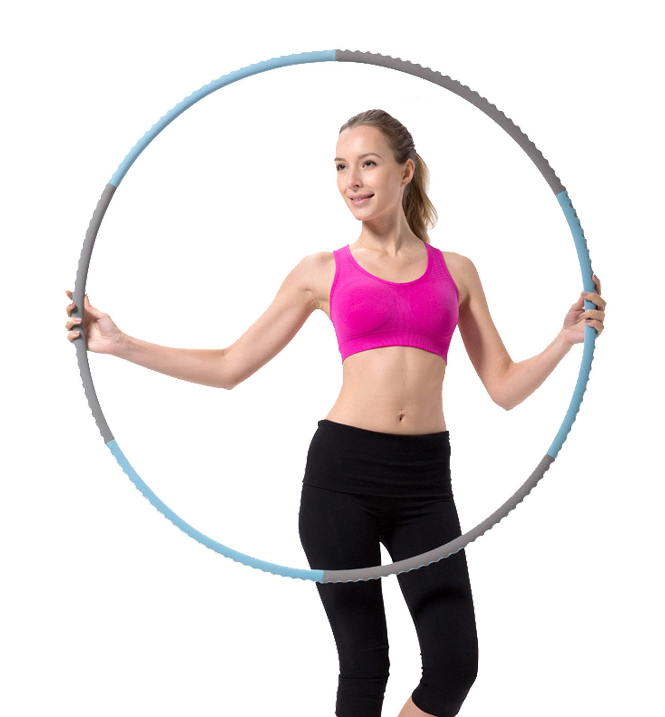 Fun&Life - Professional Weighted Hula Hoop 2 lbs (Dia.41'') for Fitness, Workout for Adults and Kids, Exercise, Weight Loss, Metal Construction, High Density Eco-friendly Foam Padded