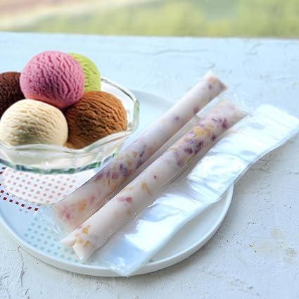 Mold de helado de paletas DIY desechable Congelador herramientas de crema Moldes de paletas Paquete de hielo Bolsa autosellante de helado: Amazon.es: Hogar