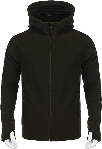 ZXFHZS Mens Hoodies Front-Zip with Hood Waistcoat Active Sleeveless Workout Vest