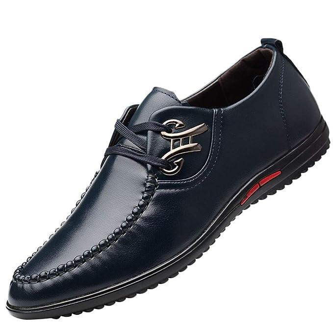 b702eb78315aa4 Beikoard-scarpa Uomo Scarpe da Uomo in Pelle Business Casual Moda Casual  Stringate morbide Scarpe da Guida(,): Amazon.it: Abbigliamento