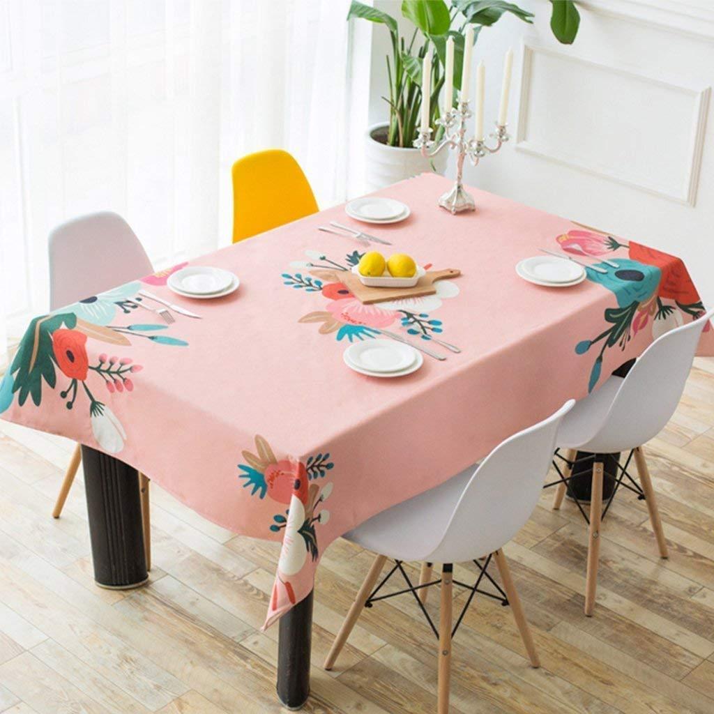 家の装飾布カバー ホームピンクの花柄のテーブルクロスソフト現代のシンプルなファッション高級リビングルームキッチンレストランホテル テーブルクロス   B07RS2T37M