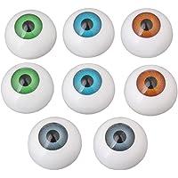 BQLZR 26mm Half Round Acrylic Doll Bear Craft Plastic Eyes Eyeball for Halloween Pack of 8