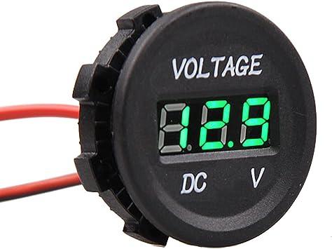 E Support Kfz 12v 24v Wasserdicht Digital Voltmeter Messbereich Grün Led Spannungsanzeige Für Auto Motorrad Lkw Auto