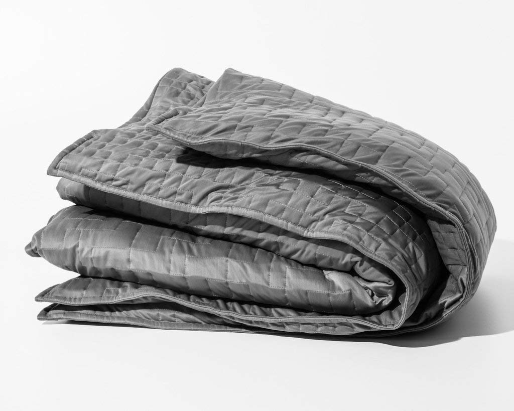 Gravity Cooling Blanket: The Weighted Blanket for Sleep, Stress and Anxiety, 48 Inches x 72 Inches, Grey, 20 Pounds