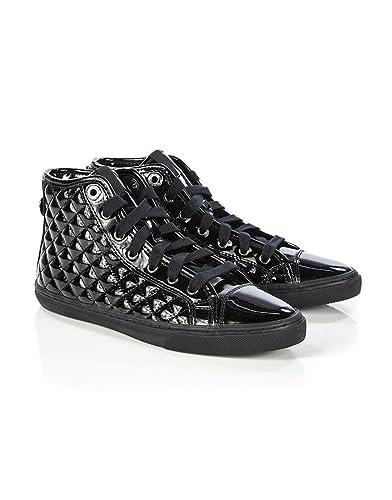 Geox New Club A, Women's Hi Top Sneakers, Black (Black), 7