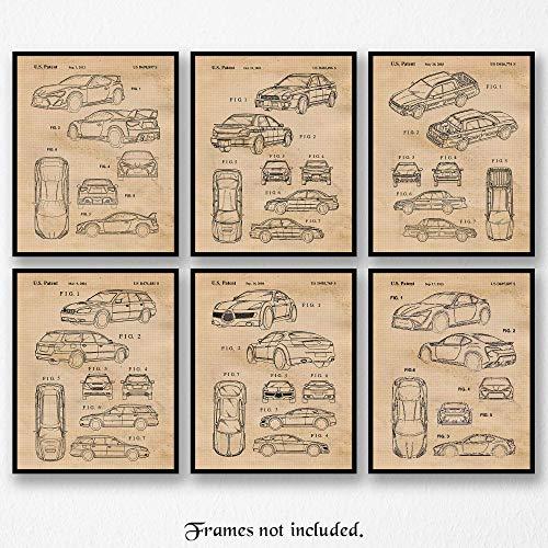Original Subaru Art Poster Prints- Set of 6 (Six 8x10) Unframed Photos- Great Wall Art Decor Gifts Under $20 for Home, Office, Garage, Man Cave, Shop, Student, Teacher, Rally Sport Driver, Fan]()