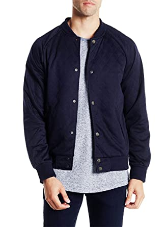 Sovereign Code Mens Princeton Navy Blue Lightweight Quilted Varsity