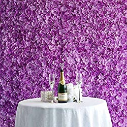 Efavormart 4 PCS Purple Silk Hydrangea Flower Mat Wall Wedding Event Decor for DIY Centerpiece Arrangement Party Decorations