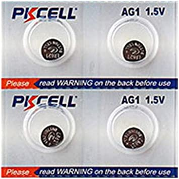Lot/Pack 4 pilas botón alcalinas ag1 bajo embalaje – LR621 164 364 364 A SR621 LR60 1.55 V: Amazon.es: Electrónica