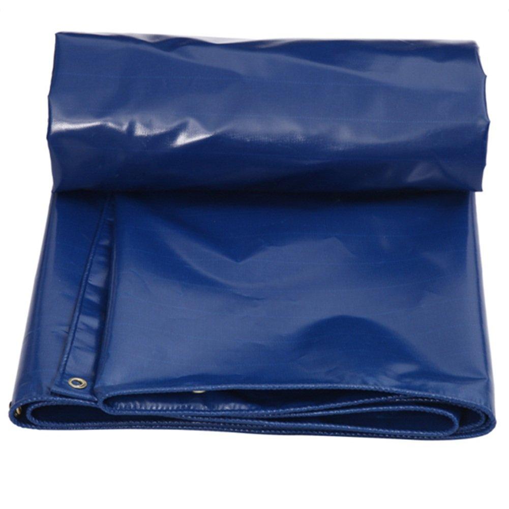 CHAOXIANG ターポリン テント 厚い 折り畳み式 防腐剤 日焼け止め 雨をカバーする リノリウム PVC、 550G/㎡、 12サイズ (色 : Blue, サイズ さいず : 5X5m) B07FTHTSJ4 5X5m|Blue Blue 5X5m