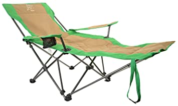Legoyo Outdoor Portable Versatile Folding Chair, Sit Or Recliner, Mix Green