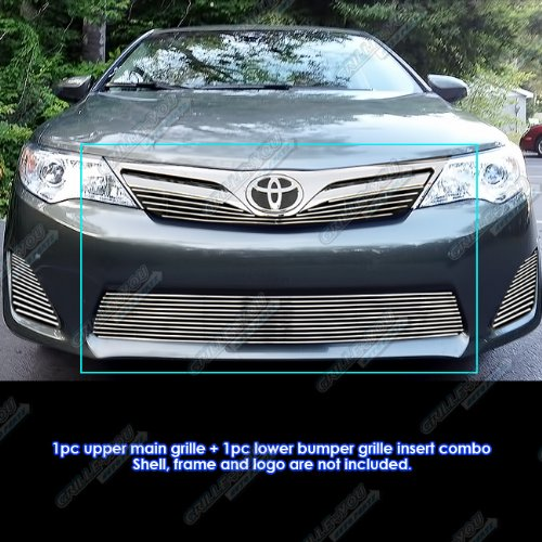 - APS Fits 2012-2014 Toyota Camry Billet Grille Grill Insert Combo #T61198A