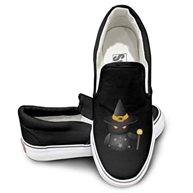 Cute Halloween Symbol Men's Women's Driving Slip-on Loafer Canvas Shoes