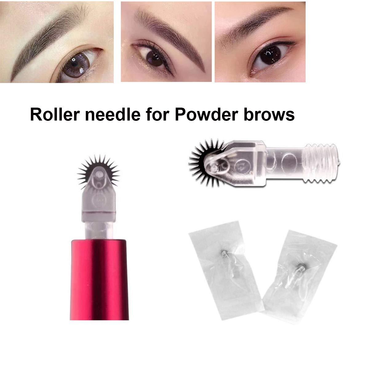 Guapa 20pcs Microblading Needles 7mm Permanent Makeup Fog Shading Needles Fast Coloring Roller Pins for Eyebrow Beauty (7mm-20pcs)