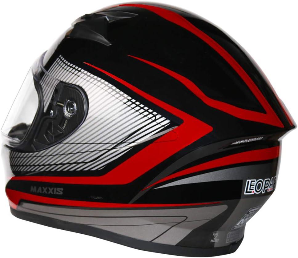 Leopard LEO-813 Full Face Motorbike Helmet DOT /& ECE 22.05 Approved #13 Neon Yellow//Black//Silver XL 61-62cm