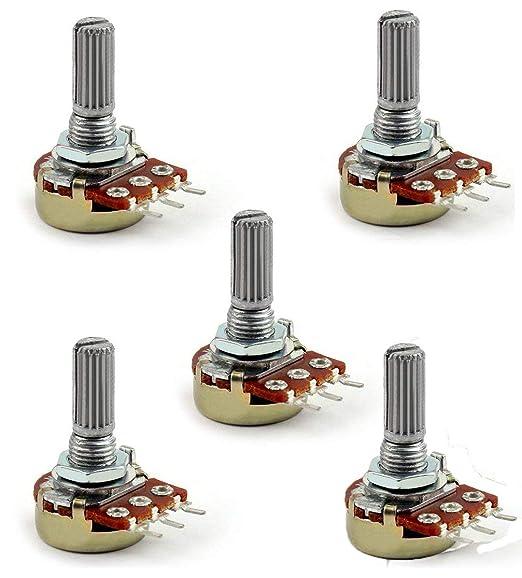 New 2PCS 1M OHM 20mm Linear Taper Potentiometer Pot B1M RD1480-01A