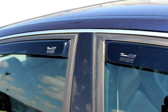 J J Automotive Windabweiser Regenabweiser Für A6 C5 Limousine 5 Türer 1997 2004 4tlg Heko Dunkel Auto