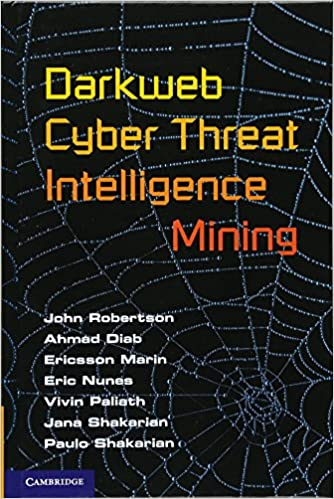 Book Darkweb Cyber Threat Intelligence Mining