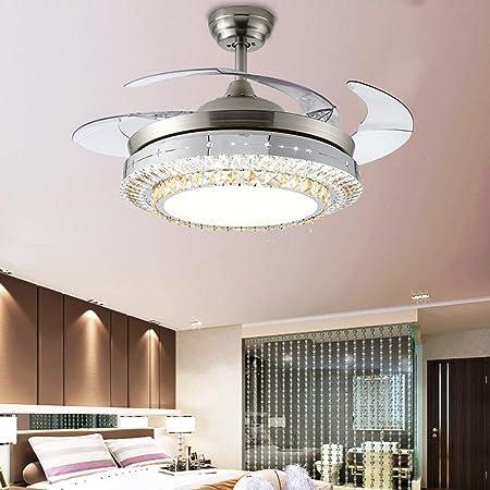 Ventilador de techo con luz LED de tres colores con control remoto ...