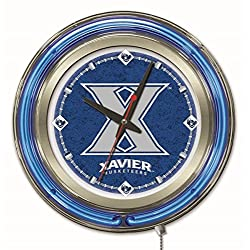 Holland Bar Stool Co. Officially Licensed Xavier Double Neon 15 Clock