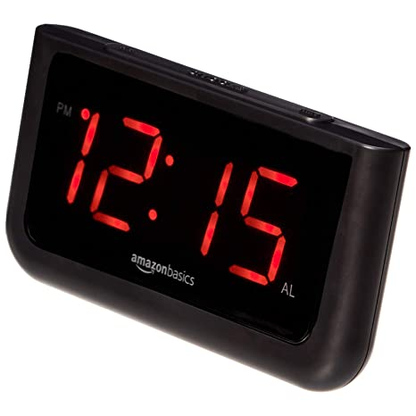 Amazon.com: AmazonBasics Reloj despertador digital con ...