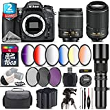Holiday Saving Bundle for D7100 DSLR Camera + 55-200mm VR II Lens + AF-P 18-55mm + 500mm Telephoto Lens + 6PC Graduated Color Filter Set + 2yr Extended Warranty + Battery - International Version