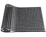 Hefty Mat Interlock Rubber Mat, Large Floor Matting , 3 feet ×2 feet ×1/2 inch, Black