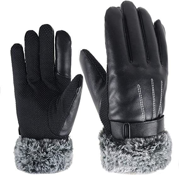 Men/'s Waterproof Thermal Gloves Warm Safety Work Winter Latex Thick Mittens Gear