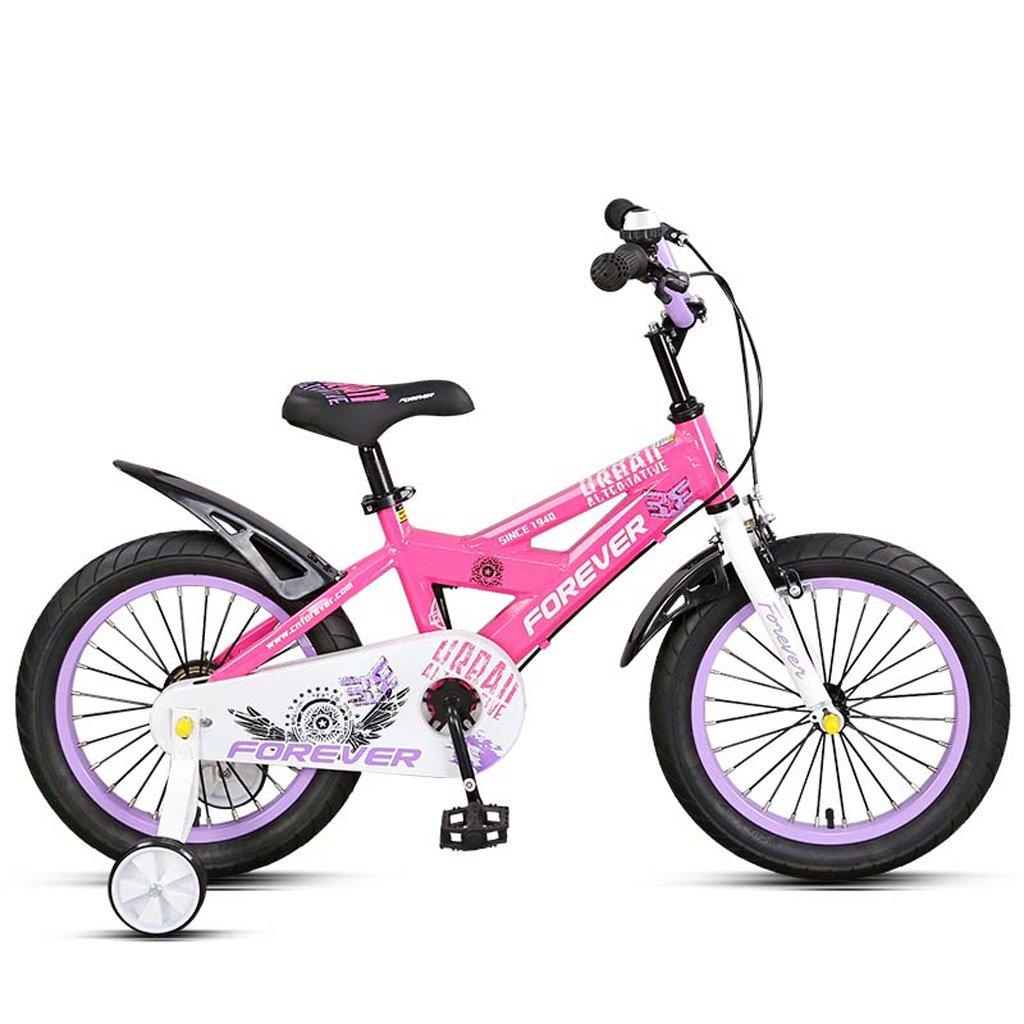 子供の自転車アルミフレーム14インチ男性と女性の子供/ペダル自転車、ピンク/オレンジ (Color : Pink) B07CWM2J4S