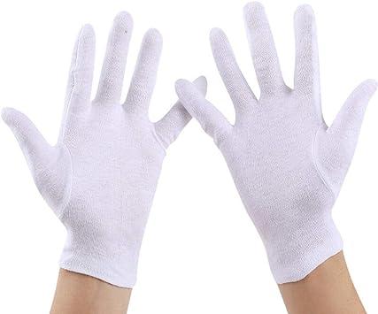 GBSTA Guantes Blancos Guantes de algodón Blanco Etiqueta de Engrosamiento Hilo de Tela Completa recepción de la Industria del Trabajo Seguridad del Controlador de Cuentas de Disco de wenwan Guantes: Amazon.es: Bricolaje