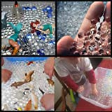 SENSORY BIN- ALL CLEAR - JellyBeadZ Brand Water Gel Crystal Soil 3 -10g/packs - TOYS NOT INCLUDED