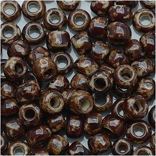 Toho Round Seed Beads 6/0 #Y306 - Hybrid Light Beige Picasso