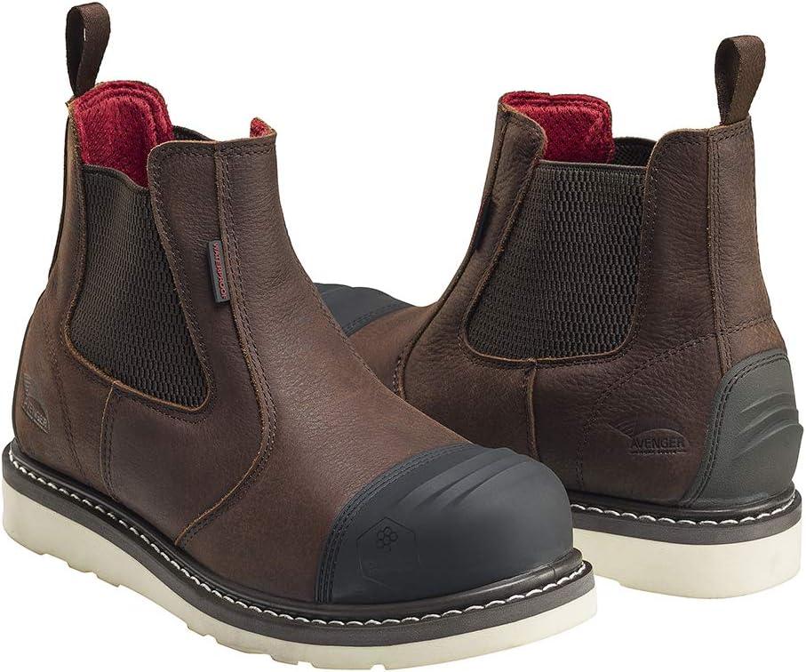 "FSI Avenger Men's 6"" Leather Nanofiber Comp Toe Waterproof EH Romeo Safety Wedge Work Boot"